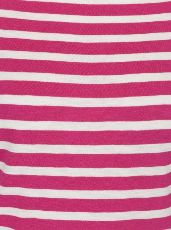 Bielo-ružové dámske pruhované tričko Garcia Jeans