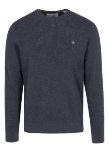 Modrý rebrovaný sveter Original Penguin