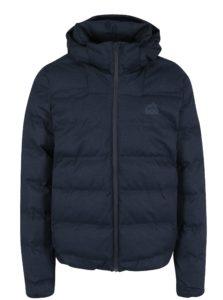 Tmavomodrá pánska zimná prešívaná bunda s kapucňou Superdry Echo