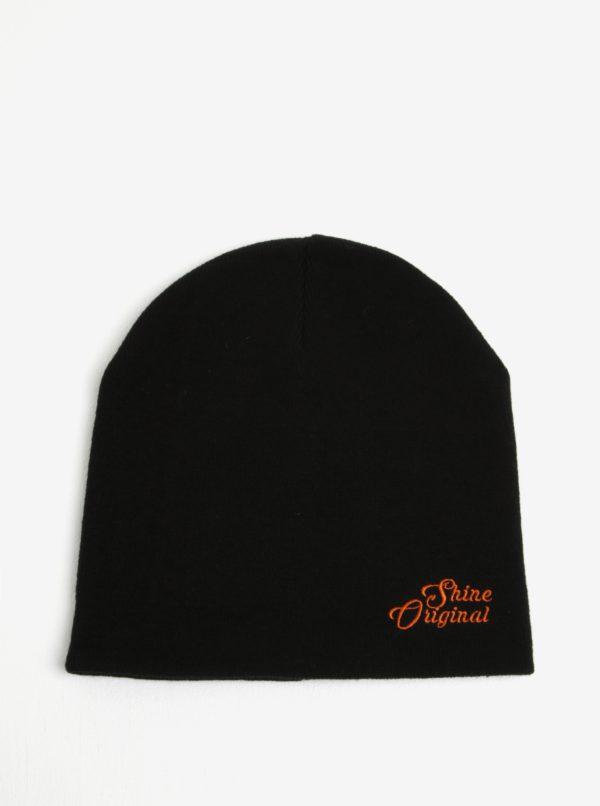 Čierna čiapka s výšivkou Shine Original