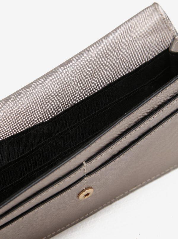Béžová metalická peňaženka Dorothy Perkins