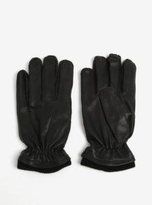 Čierne kožené rukavice Shine Original 7443dda847