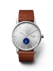 Unisex hodinky v striebornej farbe s hnedým koženým remienkom TRIWA Blue Eye Falken