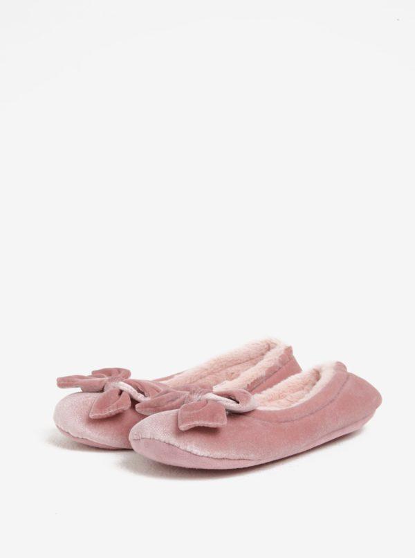Svetloružové papuče s mašľou Dorothy Perkins