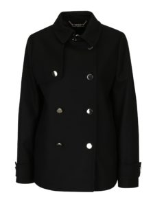 Čierny dámsky vlnený zimný kabát Tommy Hilfiger
