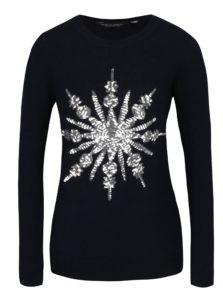 Tmavomodrý sveter s flitrami Dorothy Perkins