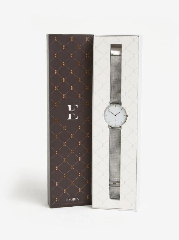 Dámske hodinky v striebornej farbe Esoria Akyla
