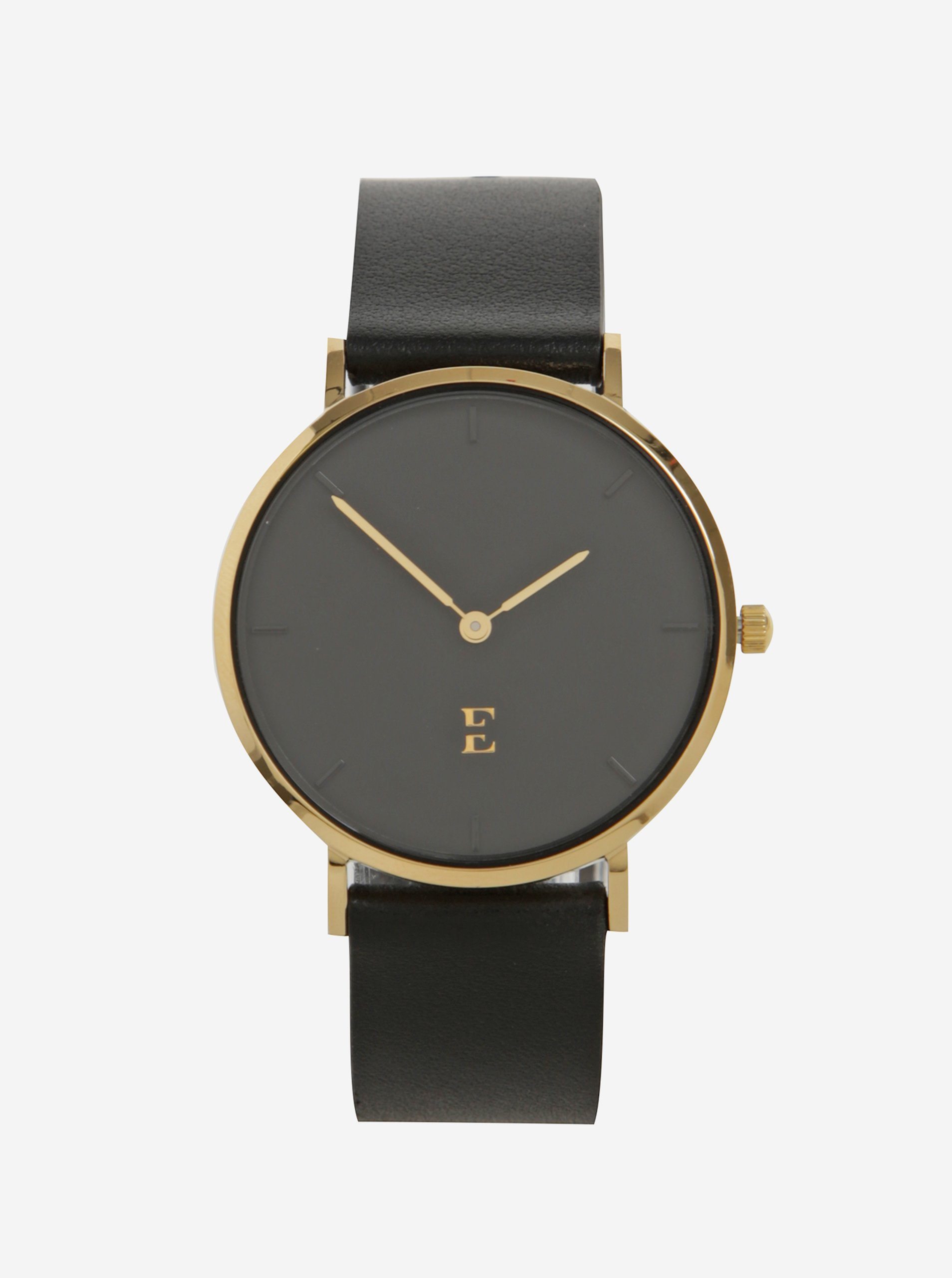 42b13c8cc Dámske hodinky v zlatej farbe s koženým remienkom Esoria Alys | Moda.sk