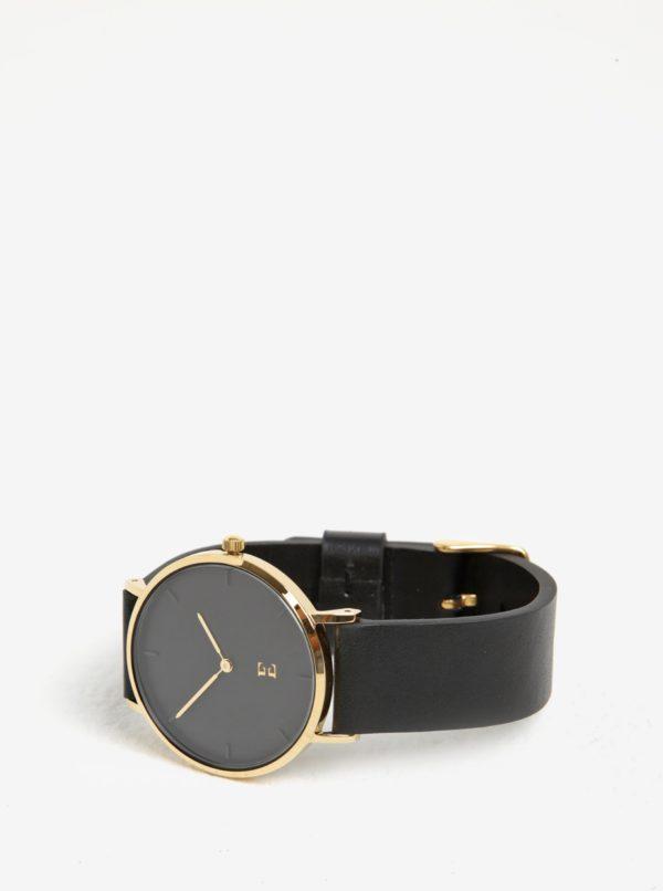 Dámske hodinky v zlatej farbe s koženým remienkom Esoria Alys  6e474beb864