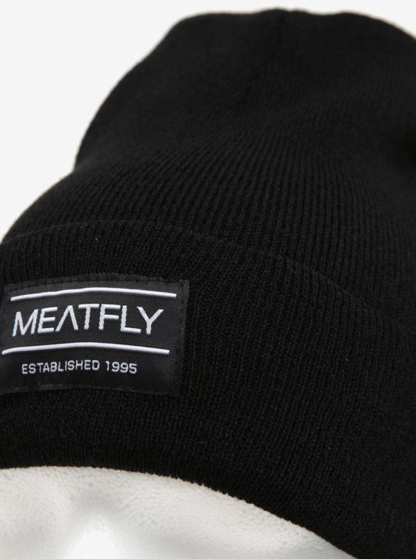 Čierna pánska čiapka MEATFLY Brady 2 Beanie