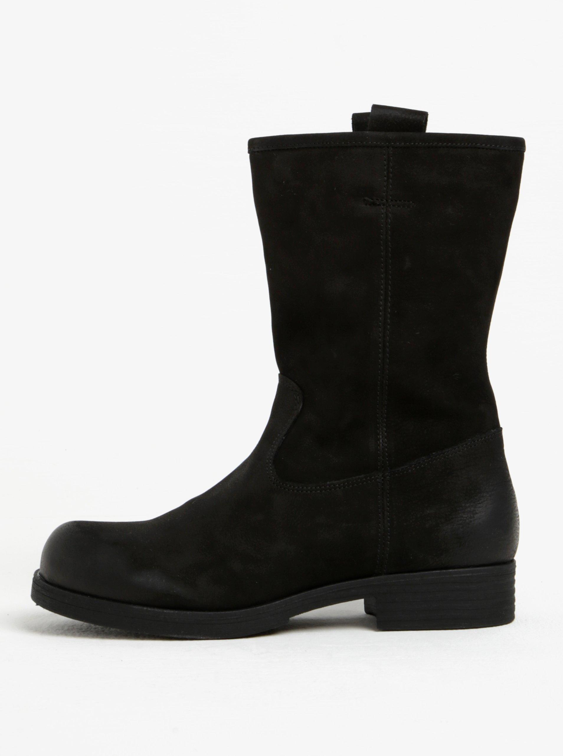 1823389ec Čierne dámske kožené nízke čižmy s.Oliver | Moda.sk