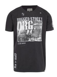 Tmavosivé tričko s nášivkou Shine Original
