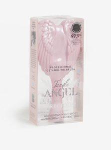 Svetloružový veľký hrebeň na vlasy v tvare anjelských krídel Tangle Angel