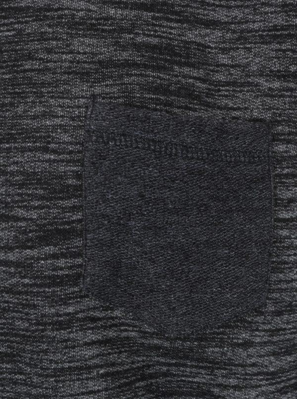 Čierna melírovaná mikina Shine Original
