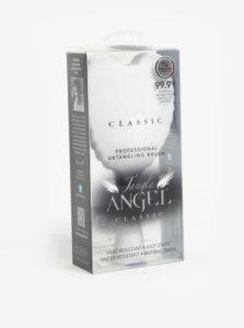 Biely veľký hrebeň na vlasy v tvare anjelských krídel Tangle Angel Classic