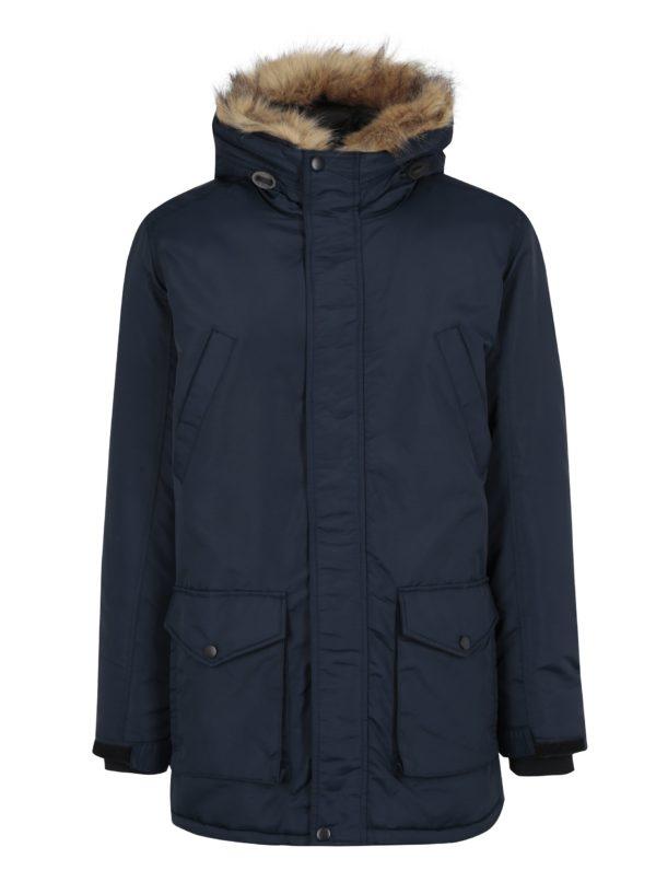 Tmavomodrá zimná bunda Shine Original