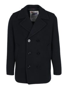 Tmavomodrý vlnený kabát Jack & Jones Vintage Navy