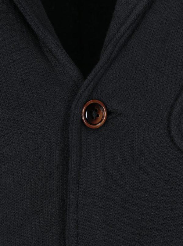 Čierne mikinové sako Jack & Jones Vintage Danley