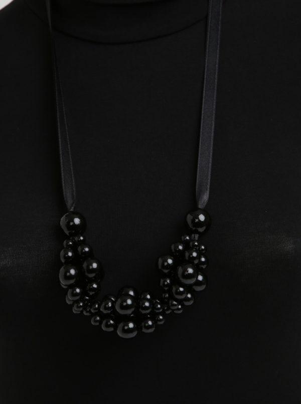 Čierny drevený náhrdelník KO-RA-LE Wav