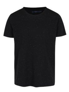 Čierne basic tričko s krátkymi rukávmi SUIT Halifax