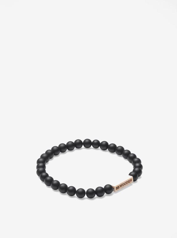 Čierno–krémový náramok BeWooden Nox Dot Bracelet