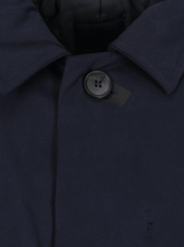 Tmavomodrý pánsky zimný kabát SUIT Kodiak