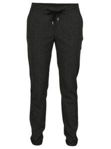 Tmavosivé dámske nohavice s elastickým pásom s.Oliver