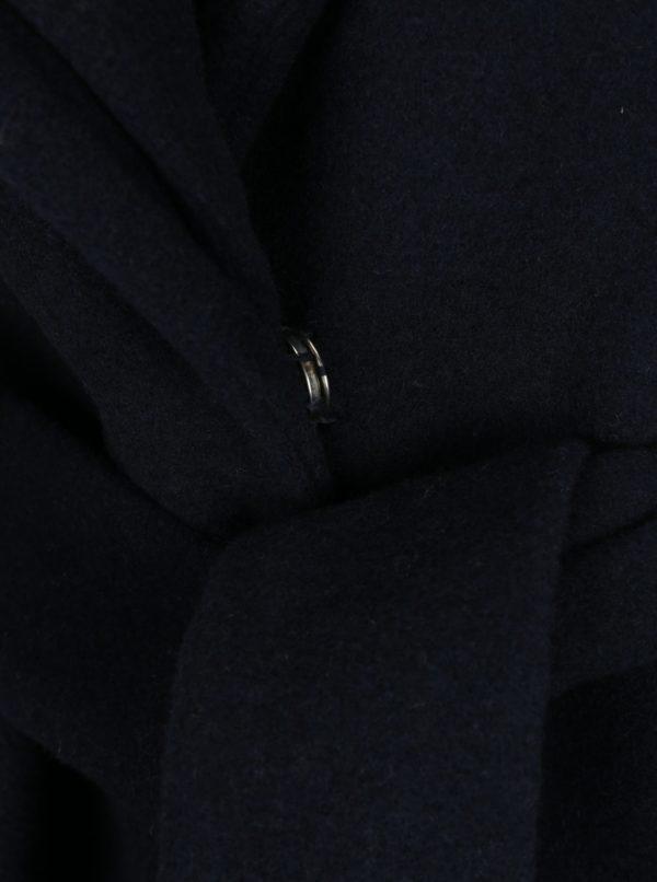 Tmavomodrý zimný kabát s prímesou vlny VERO MODA Pisa