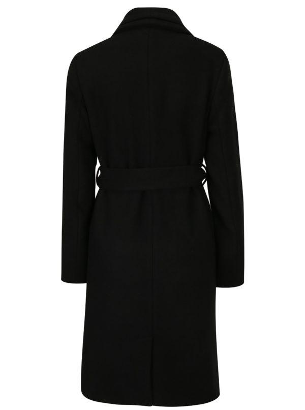 Čierny zimný kabát s prímesou vlny VERO MODA Pisa
