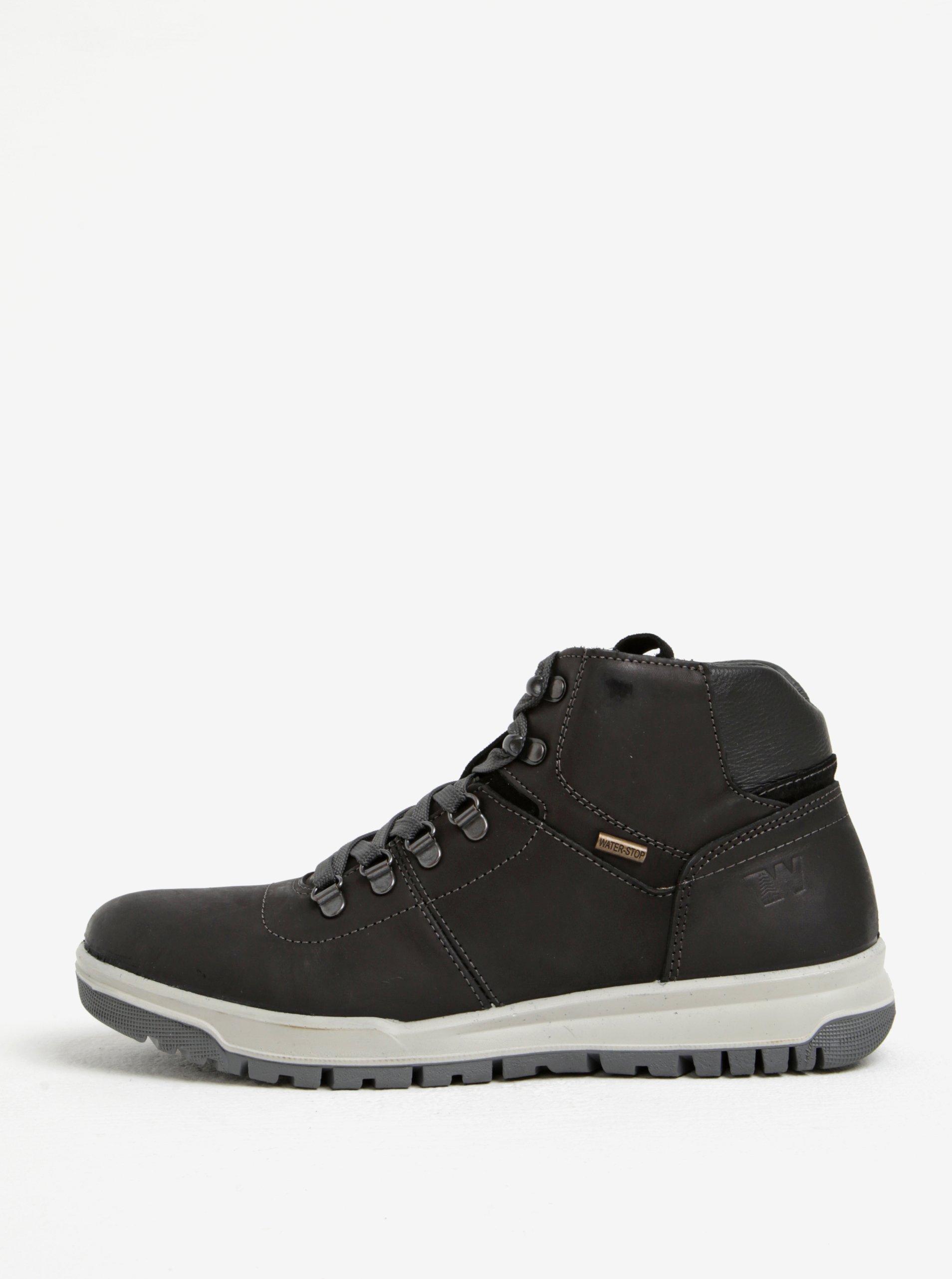 aac5ab727f9c Čierne pánske kožené členkové topánky Weinbrenner
