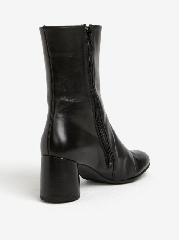 Čierne dámske kožené čižmy Högl  30ea9deb5ec