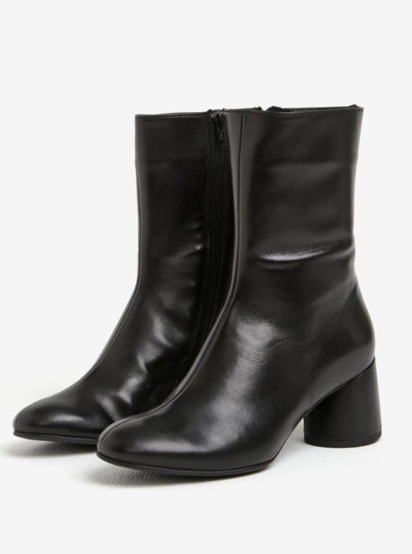 Čierne dámske kožené čižmy Högl