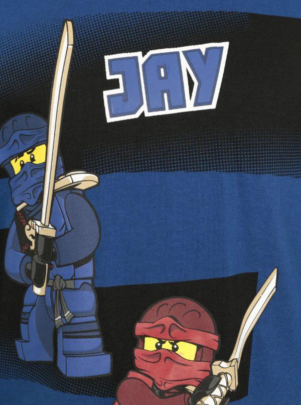 Tmavomodré chlapčenské tričko s potlačou Ninjago Lego Wear Teo