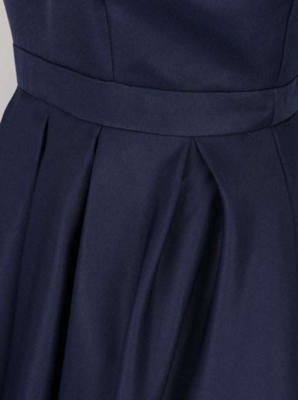 9ec8ca073c30 Tmavomodré šaty s výstrihom na chrbte Chi Chi London Zara