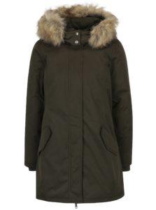 Kaki kabát s kožúškom ONLY Sarah
