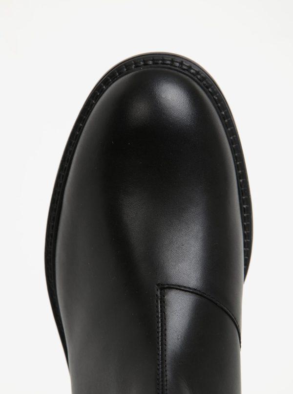Čierne panské kožené chelsea topánky Vagabond Edward