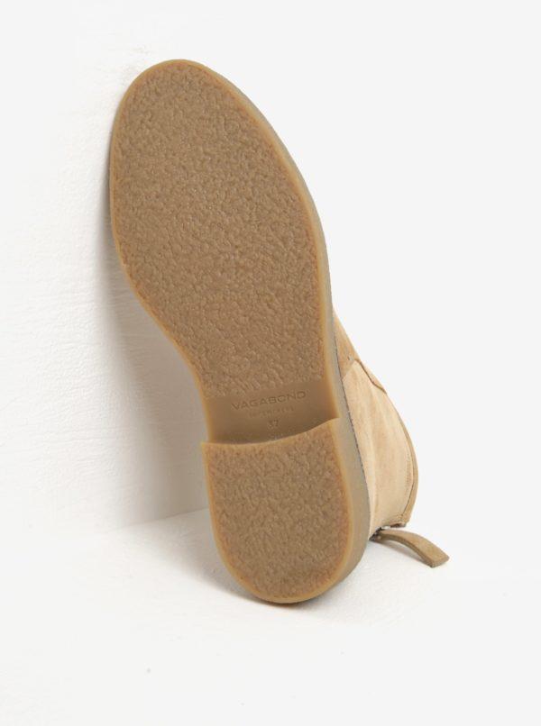 Béžové dámske semišové členkové topánky Vagabond Christy