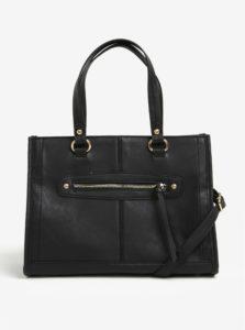 Čierna kabelka do ruky so zipsom v zlatej farbe Dorothy Perkins