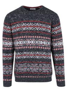 Čierny vzorovaný sveter ONLY & SONS Omas