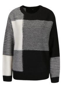 Čierno-biely dámsky sveter s prímesou vlny Broadway Neta