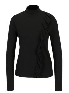Čierne tričko s volánikom Broadway Olevia