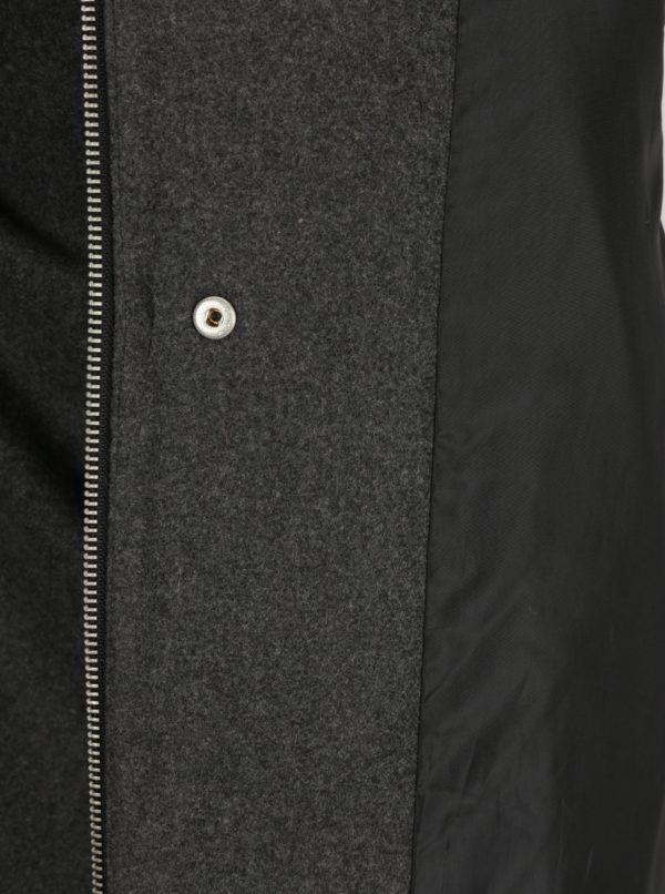 Tmavosivý dámsky krátky kabát s prímesou vlny Broadway Noomie