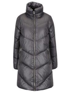 Sivý dámsky lesklý prešívaný kabát Broadway Ondina