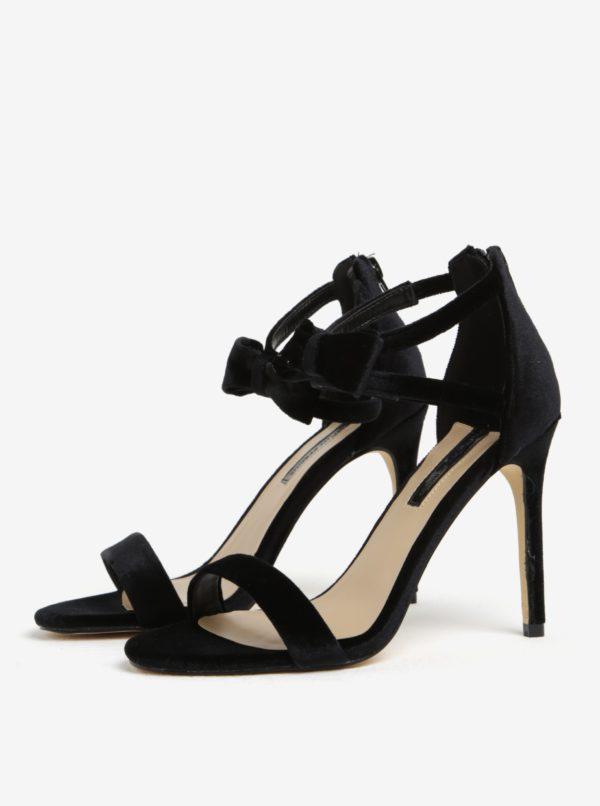 61cdf3cfa3d7 Čierne zamatové sandále na ihličkovom podpätku Dorothy Perkins