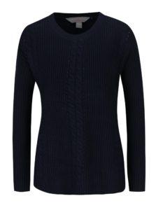 Tmavomodrý sveter s jemným vzorom Dorothy Perkins Petite