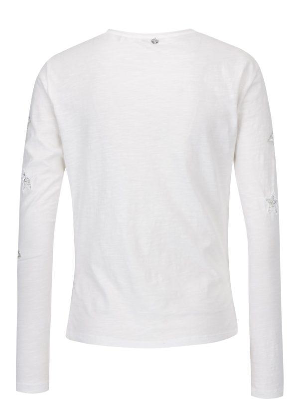 Krémové tričko s aplikáciou Rich & Royal