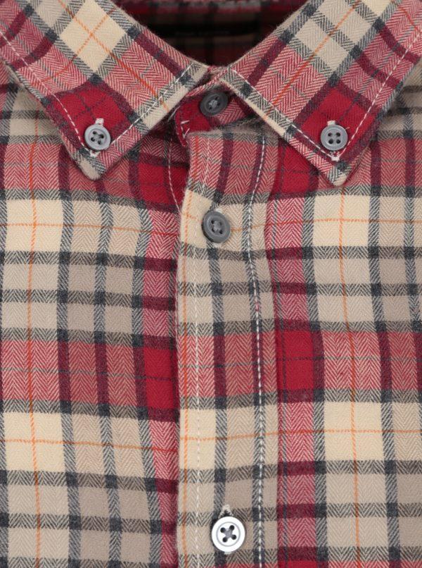 Béžovo-červená pánska károvaná košeľa Broadway Patsy