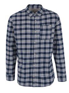 Modrá károvaná košeľa Jack & Jones Vintage Midleton