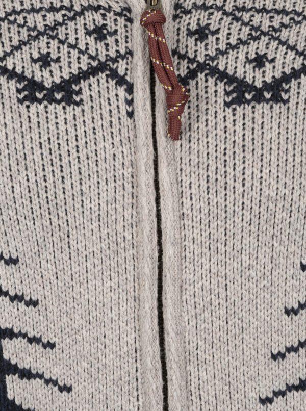Béžový vzorovaný kardigán s prímesou vlny Jack & Jones Vintage Henderson