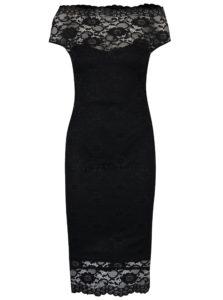 Čierne puzdrové čipkované šaty ZOOT